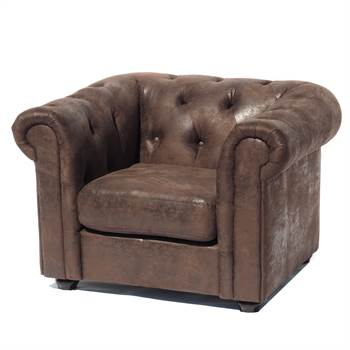"Sessel ""CLASSY CHESTERFIELD BURNT VINTAGE"" 