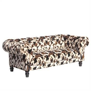 "3er Sofa ""NEW CHESTERFIELD ANIMAL"" | Tierfelloptik | Dreisitzer"