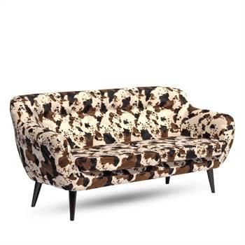 "Design Sofa ""STOCKHOLM ANIMAL"" | Tierfell Optik | Polstersofa"
