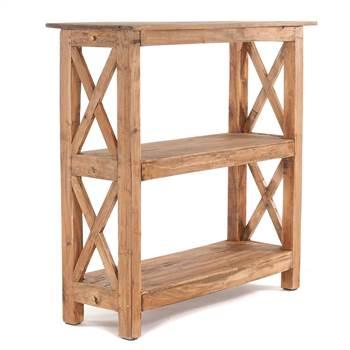 "Solid shoe shelf ""ELBA"" | 36x36x33"", recycled wood | wooden rack"