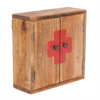 "Medizinschrank ""MEDIC"" | 35x35x13 cm, Recycling Holz | Wandschrank"