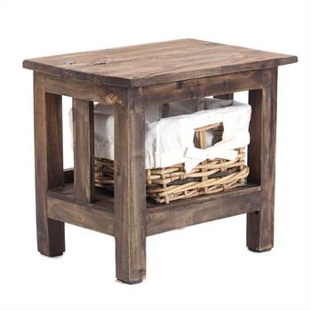 "Bedside table ""RATTAN"" 