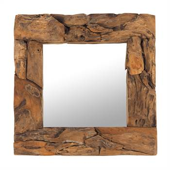 "Wooden mirror ""TEAK 50"" 