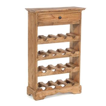 "Wine rack ""CORTEZ"" | 85x55cm (HxW), recycled wood | bottle holder"