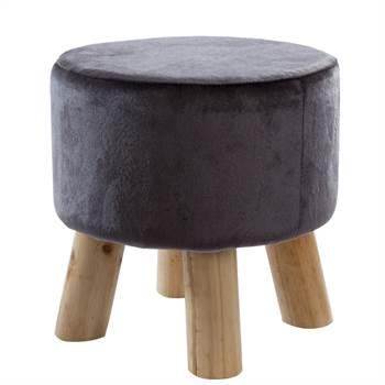 "Round stool ""REMO"" | Ø 27 cm, anthracite | footstool"