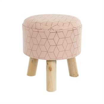 """Round stool """"NINA""""   Ø 33 cm, three legged   footstool"""