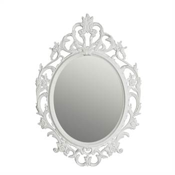 "Baroque wall mirror ""TITUS"" | white 84x59 cm | decoration frame"