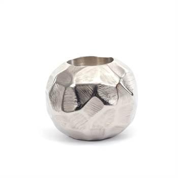 "Candle light holder ""PLANET"" | metal, 8,5x7 cm, silver | decoration"