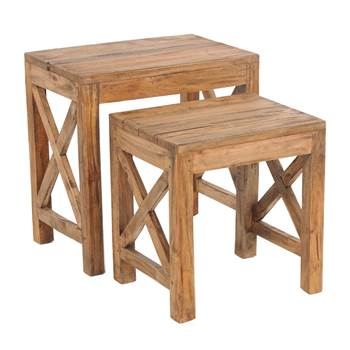 "Set of 2 side tables ""FLORA"" 