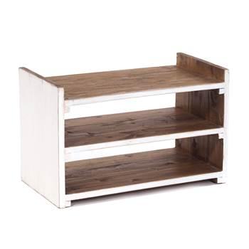 "Solid shoe shelf ""CAPRI"" | 55x35x30 cm (WxHxD), recycled wood"