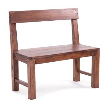 """Seating bench """"RUSTIQUE 80""""   recycled wood, 80x80x40cm (WxHxD)"""