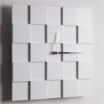 "Design wall clock ""3D PLATES"" | 30x30cm | wall decoration"