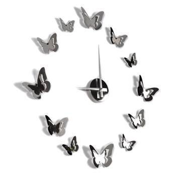 "Wallclock ""BUTTERFLY FLIGHT"" | stainless steel | wall decoration"