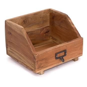 """Bookshelf """"BOOK BOX 24""""   24x21x17cm (WxDxH), wood   storage"""