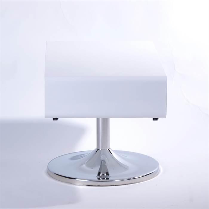 lounge design tv tisch metall fernseh 70er style retro cube rack m bel weiss ebay. Black Bedroom Furniture Sets. Home Design Ideas