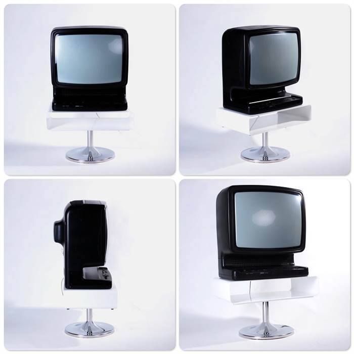 Lounge design tv tisch metall fernseh 70er style retro for Tv tisch design