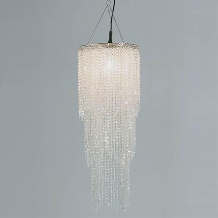 Lampenschirm oriental pearls kronleuchter l ster mit for Kronleuchter mit lampenschirm