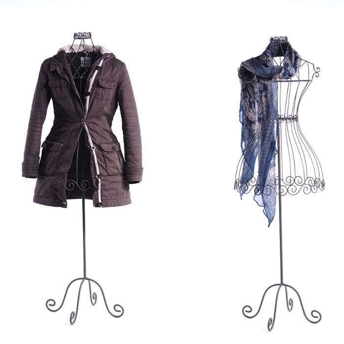 draht schneiderpuppe mannequin 150cm antik grau torso kleiderst nder deko ebay. Black Bedroom Furniture Sets. Home Design Ideas