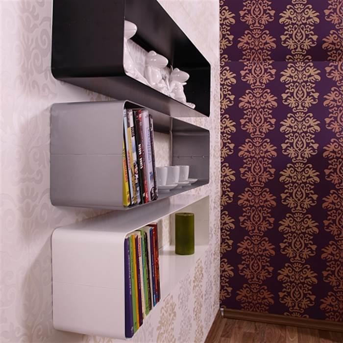 lounge design dvd blu ray regal cube retro metall wand. Black Bedroom Furniture Sets. Home Design Ideas