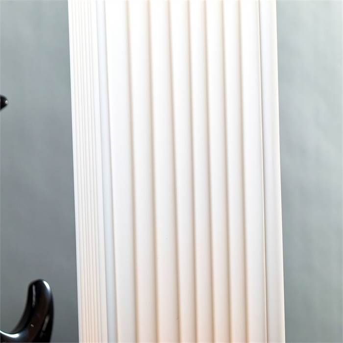 designer stehleuchte plissee 120cm stehlampe wohnzimmerlampe stoff wei ebay. Black Bedroom Furniture Sets. Home Design Ideas