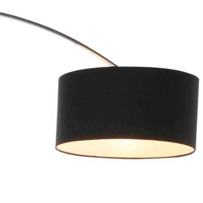 design bogenlampe schwanenhals stehlampe bogenleuchte wohnzimmer schwarz ebay. Black Bedroom Furniture Sets. Home Design Ideas