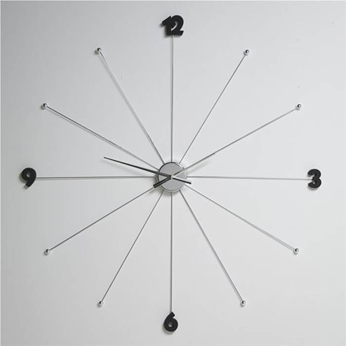 giant design wall clock 99cm umbrella watch l57 silver ebay. Black Bedroom Furniture Sets. Home Design Ideas
