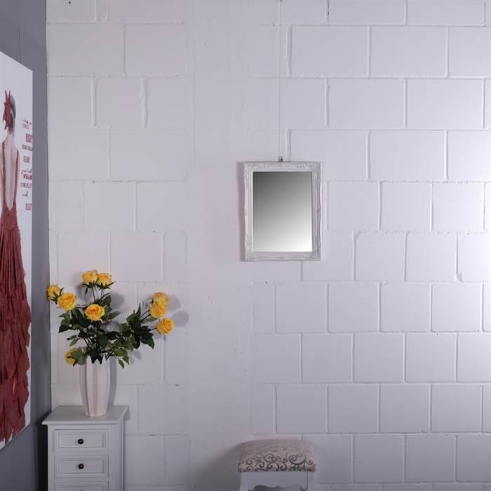barock rahmen mit facettenspiegel bilderrahmen mit spiegel wandspiegel weiss ebay. Black Bedroom Furniture Sets. Home Design Ideas