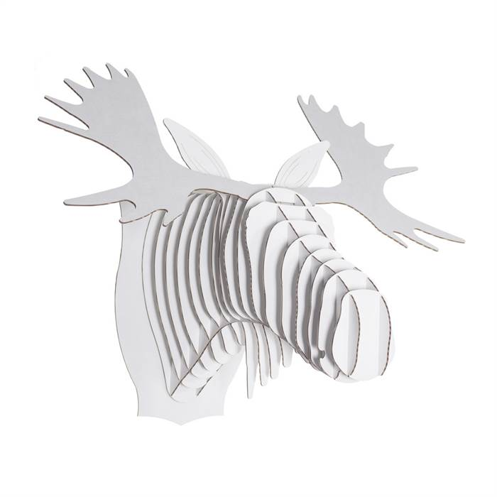 Cardboard safari 3d animaltrophy fred the moose medium white animal head ebay - Cardboard moosehead ...