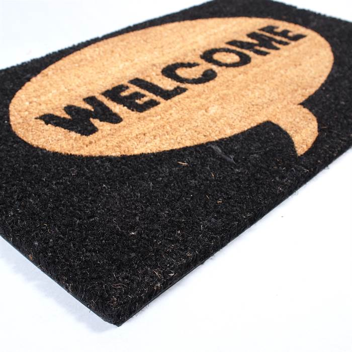 BIG DOOR MAT WELCOME Carpet Floor Coir Rug 100% Coconut