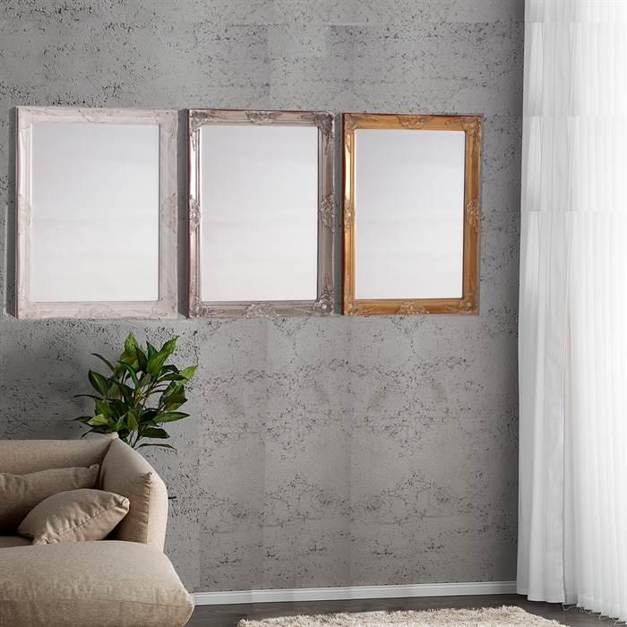 barock rahmen spiegel silber jugendstil wandspiegel antik look spiegel ebay. Black Bedroom Furniture Sets. Home Design Ideas