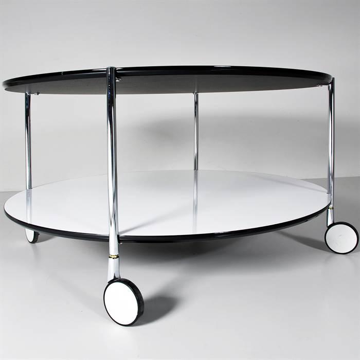 BEISTELLTISCH DOPPIO DIA Ø 80cm couchtisch tisch mit  -> Couchtisch Weiß Led