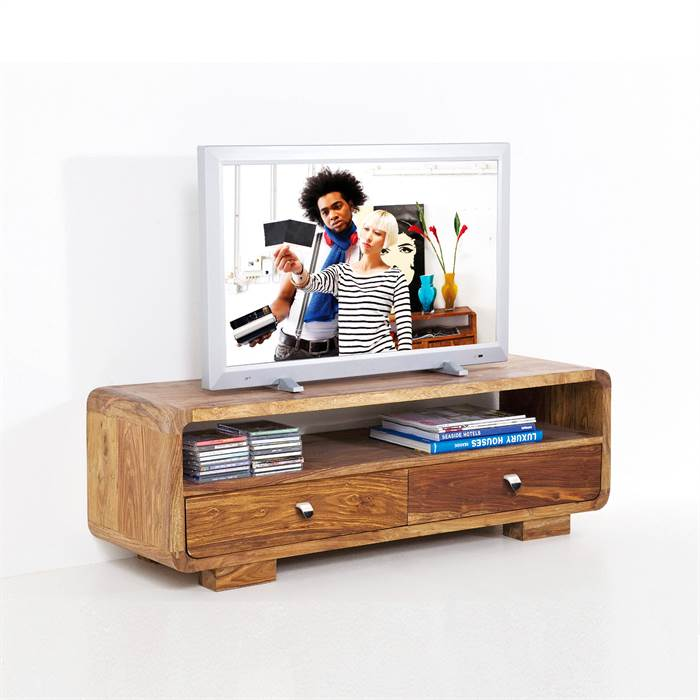 design holz tv tisch authentico fernsehtisch lowboard 120 cm. Black Bedroom Furniture Sets. Home Design Ideas