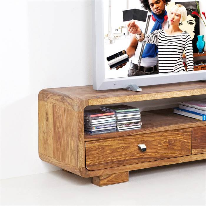 design holz tv tisch authentico fernsehtisch holztisch 120 cm ebay. Black Bedroom Furniture Sets. Home Design Ideas