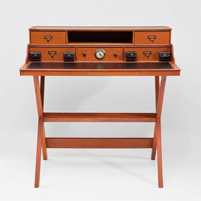 Design massivholz sekret r colonial braun schreibtisch for Schreibtisch x factory