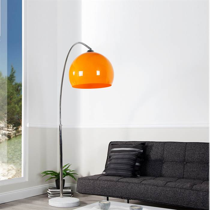 retro design lampe big bow das original stehlampe bogenlampe orange ebay. Black Bedroom Furniture Sets. Home Design Ideas