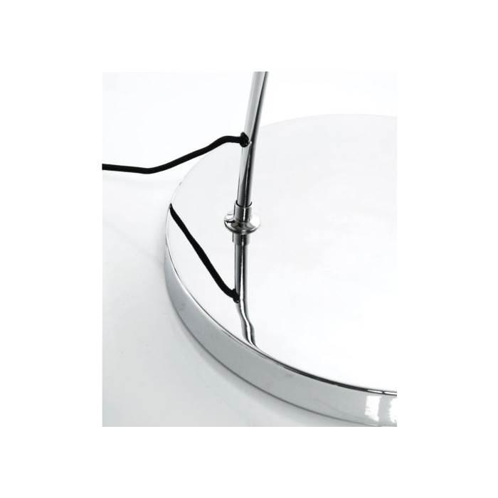 design bogenlampe stehlampe schwanenhals lampe mit dimmer schwarz. Black Bedroom Furniture Sets. Home Design Ideas