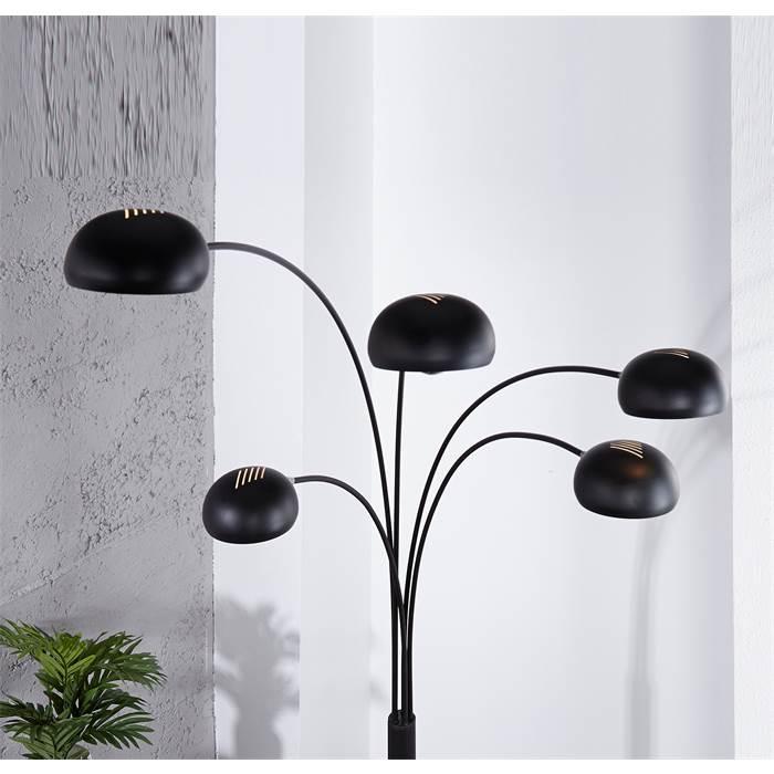 design lounge stehlampe 5 five fingers retro klassiker bogenleuchte schwarz ebay. Black Bedroom Furniture Sets. Home Design Ideas