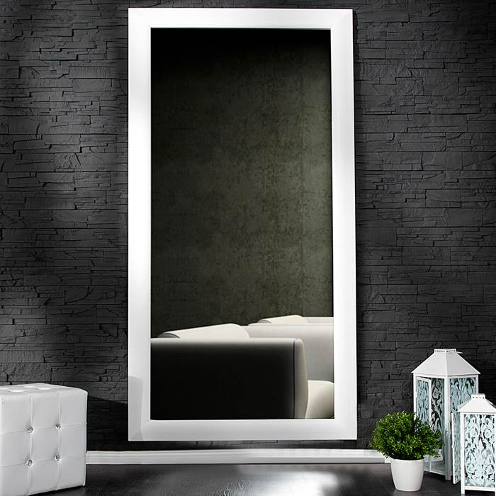 gro er spiegel eleganza eleganter wandspiegel 190 x 90 cm wei. Black Bedroom Furniture Sets. Home Design Ideas