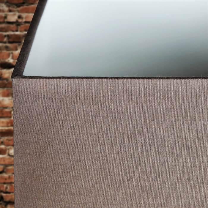 tischleuchte corteza 45 cm treibholz leinenschirm nachttischlampe braun ebay. Black Bedroom Furniture Sets. Home Design Ideas