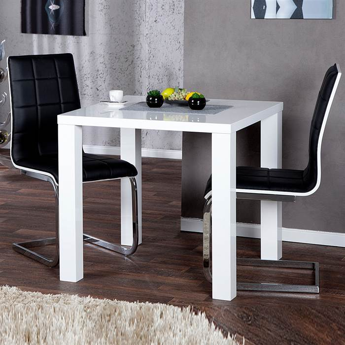 design k chentisch malm 80x80 cm esstisch bistrotisch. Black Bedroom Furniture Sets. Home Design Ideas