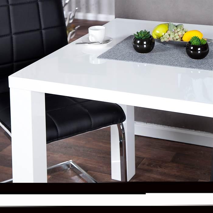 design k chentisch malm 80x80 cm esstisch bistrotisch hochglanz wei ebay. Black Bedroom Furniture Sets. Home Design Ideas