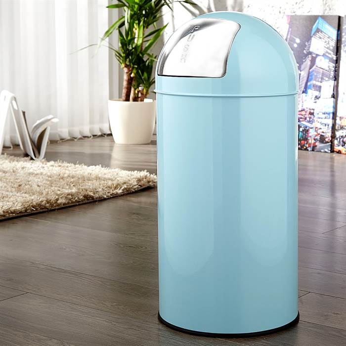 cooler push m lleimer 40 liter hellblau 65x30cm k chen abfalltonne ebay. Black Bedroom Furniture Sets. Home Design Ideas