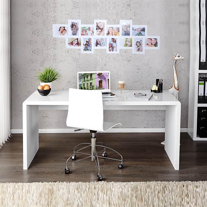 moderner design schreibtisch helsinki 160cm hochglanz wei b rotisch gro ebay. Black Bedroom Furniture Sets. Home Design Ideas