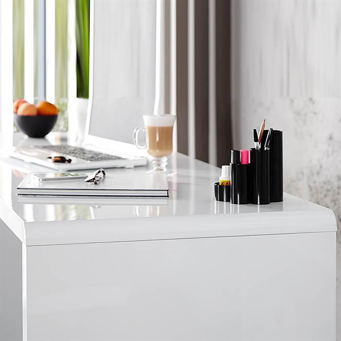 Moderner design schreibtisch helsinki 160cm hochglanz for Schreibtisch x factory