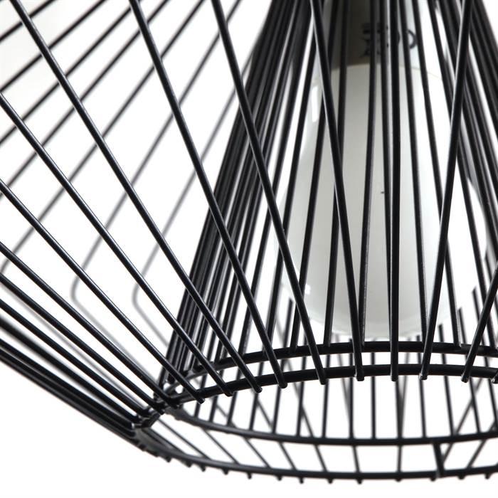 design h ngelampe pipistrello runde lampe 28x45 cm draht schwarz. Black Bedroom Furniture Sets. Home Design Ideas