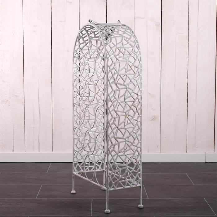 design weinregal shabby wei gold 77x34x17 cm metall 17 flaschen landhaus ebay. Black Bedroom Furniture Sets. Home Design Ideas
