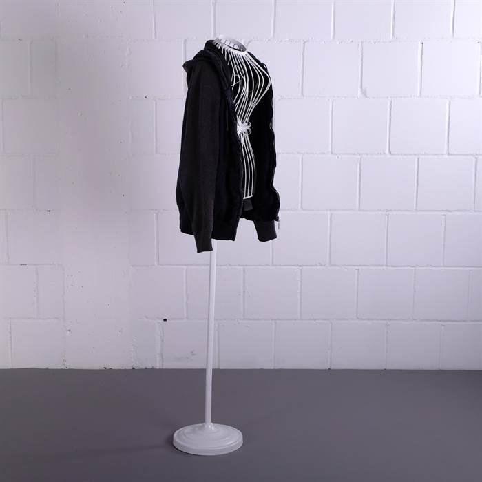 grosse schneiderpuppe silhouette wei 150x32x20 cm eisen b ste torso ebay. Black Bedroom Furniture Sets. Home Design Ideas
