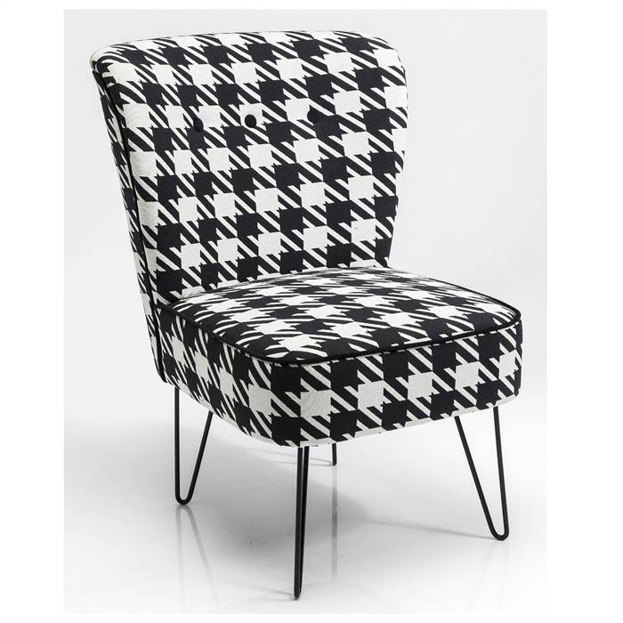 polsterstuhl josefa schwarz weiss 78x59x66 cm. Black Bedroom Furniture Sets. Home Design Ideas