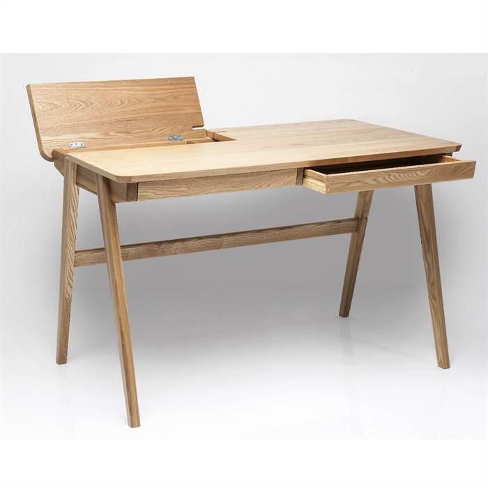 schreibtisch stockholm braun 76x120x70 cm holz sekret rmit kabelkan len ebay. Black Bedroom Furniture Sets. Home Design Ideas