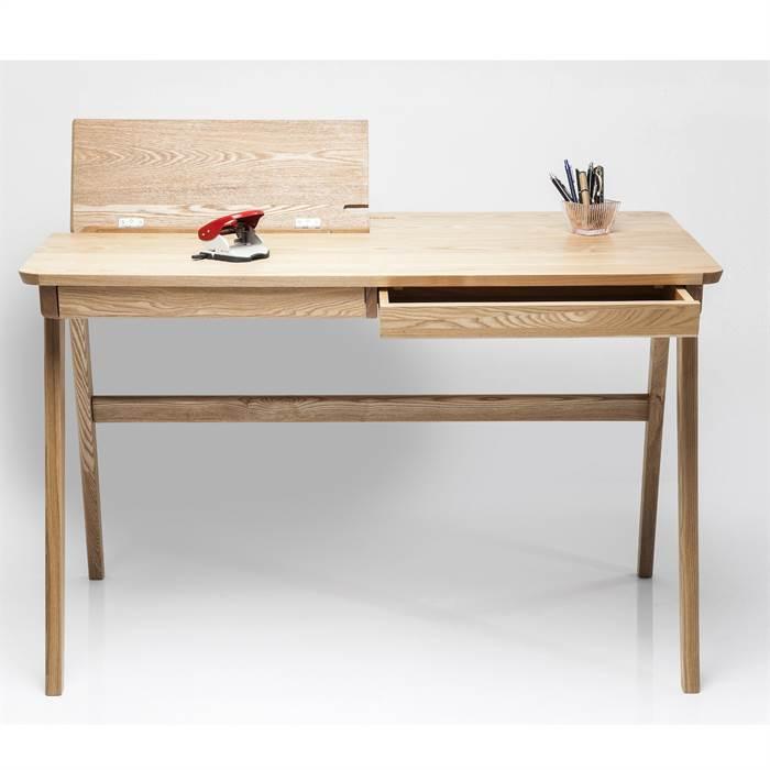 Schreibtisch stockholm braun 76x120x70 cm holz for Schreibtisch x factory